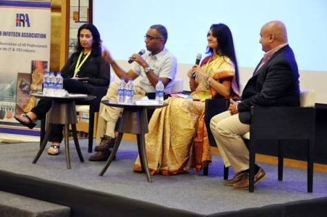 Moderating panel at HRIA, Meluha , Mumbai