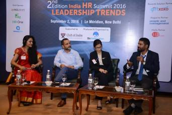 Moderating Panel at India HR Summit 2016, Le Meridian, New Delhi