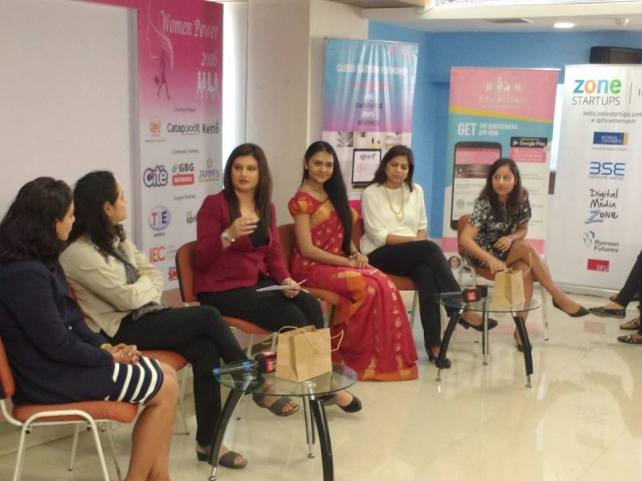 Speaking at Women Power, Moderated by Shruti Mishra Producer CNBC , Young Turks , at BSE , Mumbai , organised by The Mentorprenuers