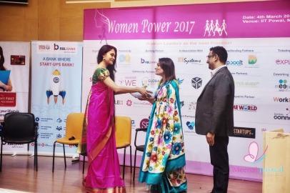Felicitating Shanta Vellury HR Head RBL Bank