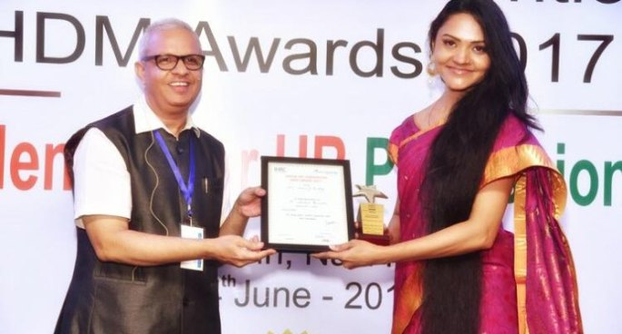 Awarded by Indian HR Convention at HDWAwards 2017