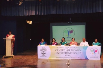 Inaugurating Centre for Women Entrepreneurs at St. Mira's College, Pune